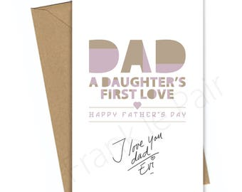 Happy Fathers Day,Father's Day gift,Daughter,printable art,thank you Dad,digital dad card,instant download,gift for him,typography print