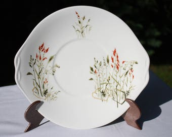 Queen Anne 'NYMPH' Sandwich / Cake plate - Meadow grasses - Made in England