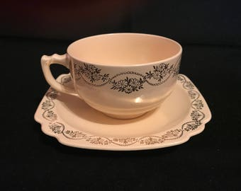 Vintage Homer Laughlin cup and saucer