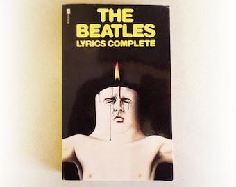 The Beatles - Lyrics Complete - McCartney Lennon music vintage paperback book - 1974