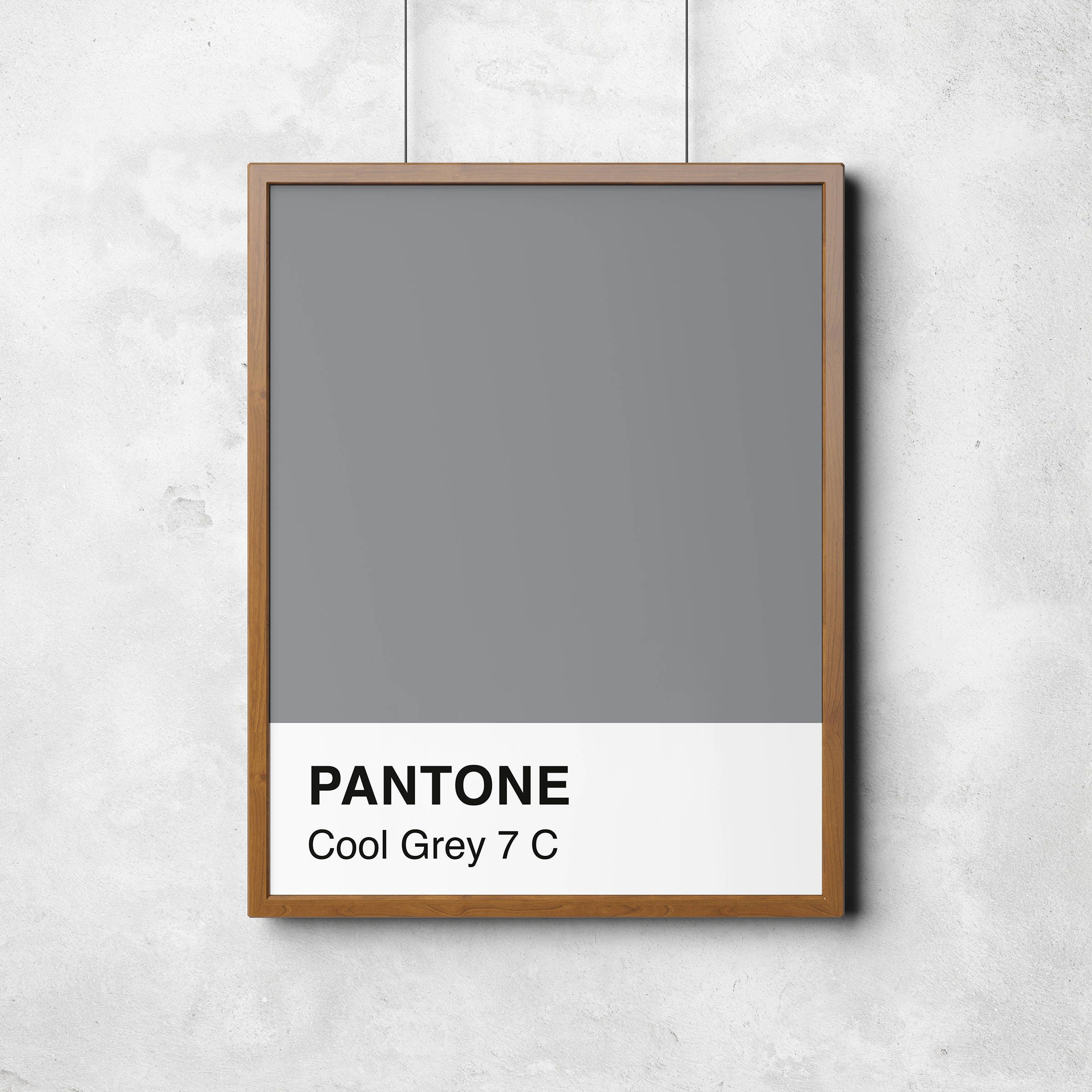 Pantone Print Cool Grey 7C colour swatch printable poster