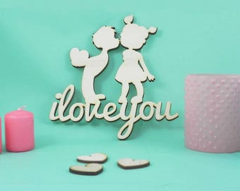 Decorazione parete - I love you