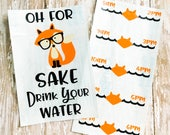 For fox sake sticker, fox Car Decal, Planner Stickers, Drinking water decal,  Water Bottle Decal, Drink Water Decal, For Fox Sake