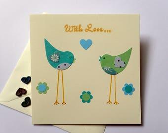 Handmade Greeting Cards - Paper Craft Greeting Cards - Blank Greeting Cards -  Greeting Cards - Birthday Cards - Handmade Bird Greeting Card