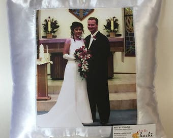 "Wedding Gifts  Photo Pillow 16"" by 16"""