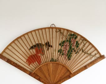 Vintage fan shaped Panel