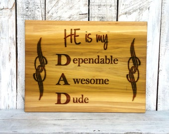 Cutting Board Gifts - Dad Gifts - Wood Cutting Board -  Kitchen Cutting Board - Awesome Dad - Father Gift - Wood Gifts - Dad Birthday