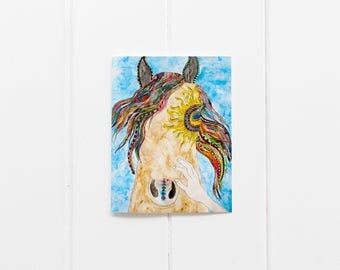 Happy Greeting Cards/Horse Card Set/Thinking of You/Friendship Cards/Animal Cards/All Occassion Cards/Southwest Card/Colorful Cards/CC-30