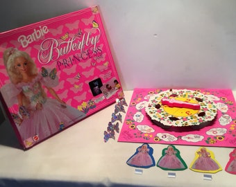 1995 Barbie Butterfly Princess Game Complete Great Condition FREE SHIPPING