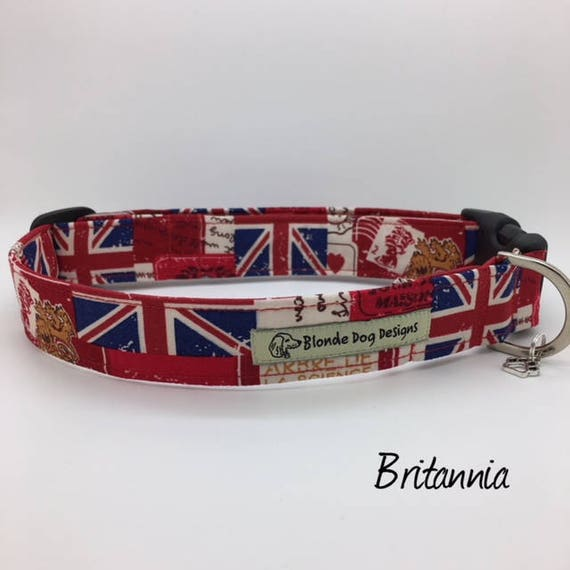 Union Jack Collar, or, Union Jack Dog Lead, Britannia, Union Jack Lead, Dog Collar UK