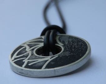 Pendant sterling silver forged