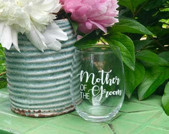 Mother of the Groom glass, gift