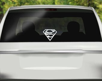 Superman Seahawks Decal - Seattle Seahawks Decal - Seattle - Seahawks Sticker - Seattle Sticker - Bumper sticker - Vinyl Decal - Car Sticker
