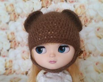 Blythe hat. Blythe bear hat with ears