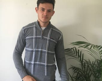 Retro Fila quarter zip jumper, size M