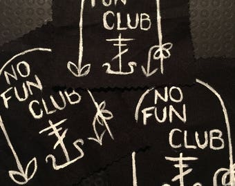No Fun Club Headstone patch