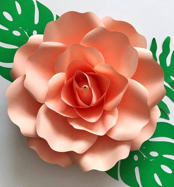 Svg medium fit rose petal template digital version for Rose petal templates free