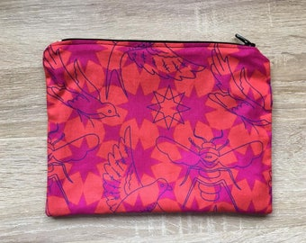 Birds and Bees Zipper Pouch