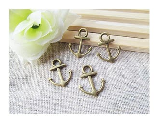 SET of 15 anchor marine sea, bronze (T26)
