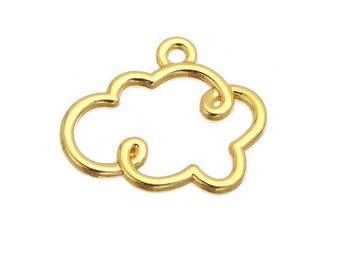 charm gold plated Golden cloud (S37)