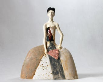 Ceramic Sculpture , Art Object , Fine Art Ceramic ,  Handmade Clay Sculpture , Ceramic Art , Ceramic Figurine , Pottery,