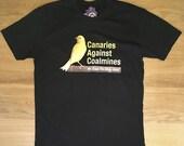 Canaries Against Coalmines Men's Tshirt