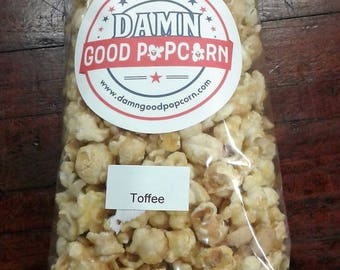 Butter Toffee Crunch Popcorn with Peanuts Gourmet Popcorn