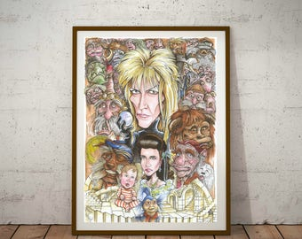 The Labyrinth, Eco Friendly, A3 Cult Caricature