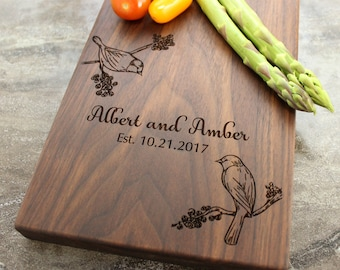Personalized Cheese Board, Serving Board, Bread Board, Custom, Engraved, Wedding Gift, Housewarming Gift, Anniversary Gift, Engagement #28