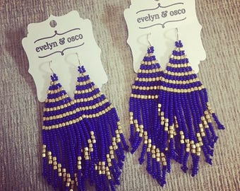 The Osco Earrings (Royal Blue)