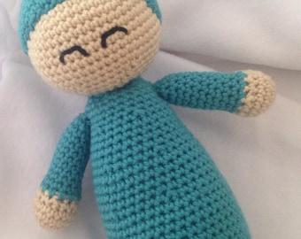 Crochet Baby Doll, Happy Sleeping Baby