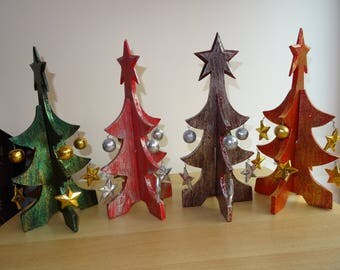 Pine wooden Christmas, green gold, silver, silver, Burgundy Red Golden red, table decor, fetesl decor, Christmas, new year