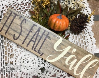 Rae Dunn Inspired Sign - It's Fall Y'all - Rae Dunn Inspired Fall Sign - Rae Dunn Inspired Wood Sign