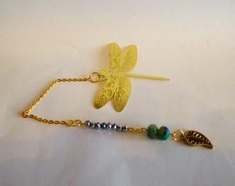 Golden Dragonfly bookmark