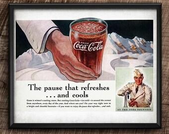 Coca-Cola · Advertisement · 1930s · Vintage · Instant Download · Printable #159