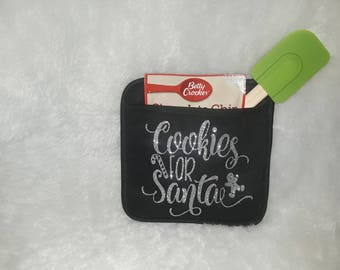 Potholder and cookie set with spatula