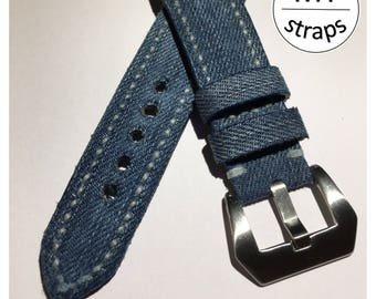 I sell vintage jeans and Handmade Leather strap strap 22 mm New
