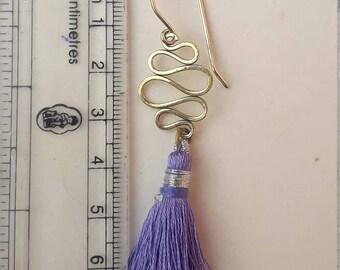 Brass Metal Earring Metal Earring Tassel Earring Brass Tassel Earring Long Earring