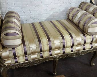 Vintage steiped Silk Bench