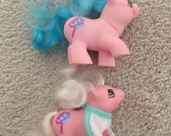 My Little Pony Vintage G1 Sticky & Sniffles Lot Baby Newborn Earth Ponies