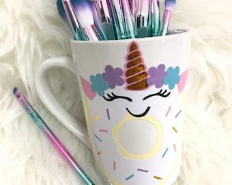 Unicorn donut coffee mug
