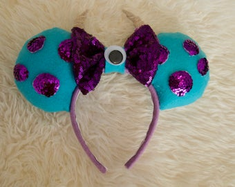 Sully From Monsters Inc. inspired Minnie Mouse Ears | Mickey Ears