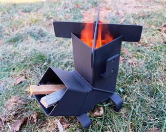 Rocket Stove with *Removable top and Self Feeding*  Camping Stove   Wood Stove  Emergency Stove    Survival   Portable ChristiansburgWeld