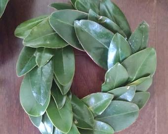 Micro magnolia wreath~fixer upper style wreath