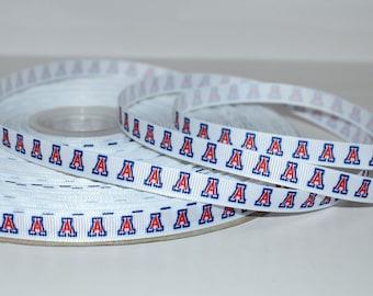 "University of Arizona 3/8"" Grosgrain Ribbon S223 By the Yard"