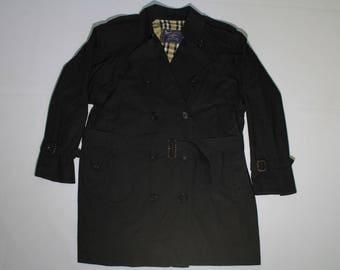 Burberrys vintage womens Trench Coat SIZE M (L) belt plaid