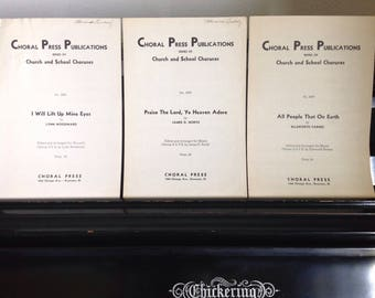 1946 Choral Sheet Music - Set of Three