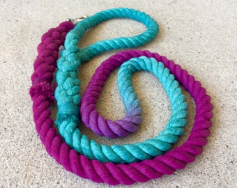 Multi Coloured Rope Lead