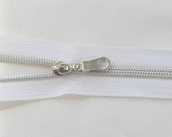 Nylon Metallic Zipper Kit - White