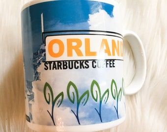 1998 Starbucks Coffee Mug Orlando Collectible